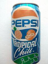 PEPSI TROPICAL CHILL 1991 empty can USA discontinued RARE top opened 354ml