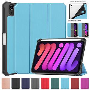 Silicone Flip Case For iPad 10.2 8 7 6th Gen mini 54 3 Air Pro 12.9 11 TPU Cover