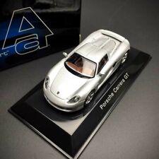 New 1/64 AUTOart Porsche carrera GT diecast car model silver 20631 with base