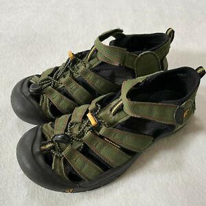 Keen Newport H2 Sport Sandals Youth Boys Size 6 Green Waterproof Hiking Outdoor