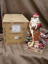 Jim Shore Heartwood Creek Santa 2 sided CHECKING IT TWICE 4027709