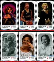 BRAZIL 2019 WOMEN WHO MADE HISTORY, SET COMPLETE, ALL MNH