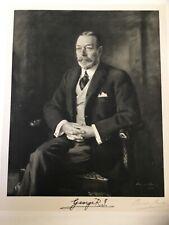King George V Signed Portrait 1928, Portrait by  Royal Artist Oswald Birley