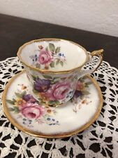 Tazzina da tè inglese decorata a mano