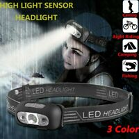 LED USB Rechargeable Headlamp Fish Bright Waterproof Head Torch Headlight F6 HOT