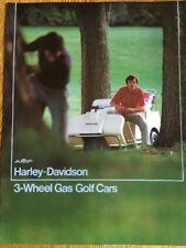 Original AMF HARLEY-DAVIDSON 3-Wheel Gas Golf Car Sales SPECIFICATIONS BROCHURE