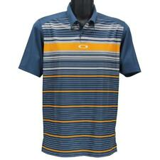Oakley Legacy Polo Mens Size XXL Blue Shade Striped Golf Regular Tee Shirt