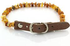 "Raw Baltic Amber Anti-Tick Anti Flea Dog Collar Necklace 31-36cm / 12.2-14.1"" 25"