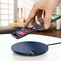 Qi Wireless Fast Charger Induktive Ladestation Blau für Blackview BV9600 Pro