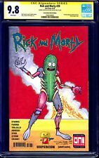 Rick and Morty #39 BLANK CGC SS 9.8 signed SECRET WARS HOMAGE SKETCH Nick Justus