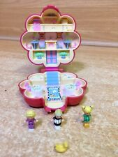 RARE BLUEBIRD POLLY POCKET MR FRY RESTAURANT PLAY SET FLOWER COMPACT 1990