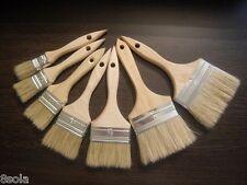 Profesional Pennello Set di 8 Naturale Vernice a Pennello da barba con IN LEGNO MANICO FAGGIO