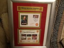 Manchester United autographed treble winning celebration on stamp covers