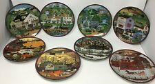 Charles Wysocki Peppercricket Farms - Set Of 8 Plates - Bradford Exchange 1993