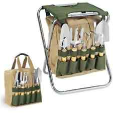 Gardening Gardener Folding Chair with Tools Portable Storage Organizer