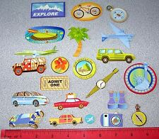 Chipboard / Cardboard Travel Car Airplane Bike Van Car Palm Tree Double Sided