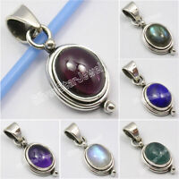 925 Sterling Silver Oval Shape UNISEX Pendant ! Birthday Gift Fashion Jewelry