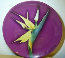 Les Fleurs Parfums Givenchy Bird of Paradise Purple Decorative Salad Plate 8""