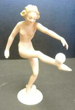 Exquisite Hutschenreuther Selb Art Deco Porcelain Nude Ball Dancer by C Werner