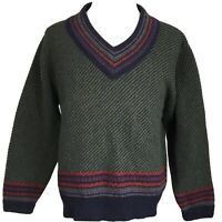 PENDLETON COUNTRY TRADITIONALS V-NECK VIRIGIN WOOL COLOR BLOCK SWEATER MENS XL