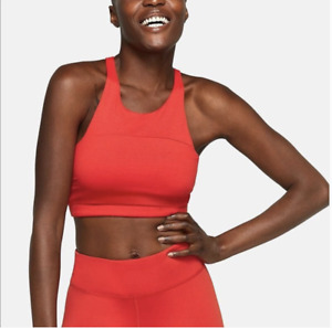 OUTDOOR VOICES Womens TechSweat Crop Sports BRA, Size XS, Coral Red Racerback
