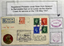 1937 Newport England Cover To Lundy Channel Island King George Vi Coronation
