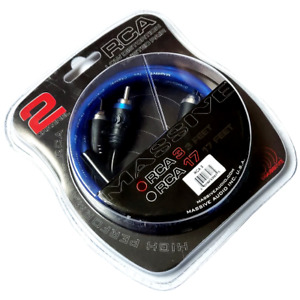 Massive Audio 3 Foot Noise Cancelling Twisted RCA 3 ' Audio Cable 100% Copper