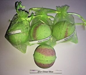5 x Luxurious After Dinner Mint Handmade Bath Bombs (40g - 4.5cm)