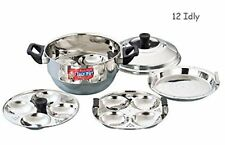 Idly Maker Indian Cooker Stainless Steel 12 Idlis