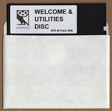 BBC Micro 5.25 Welcome & Utilities Floppy Disk - 40 Track DFS Version