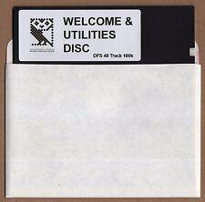 BBC Micro 5.25 Benvenuto & utilities Floppy Disk - 40 TRACK versione DFS