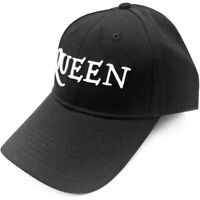 100% Official Licensed Merch BASEBALL CAP Hat: Black w/ High-embossed Logo QUEEN