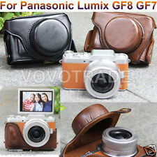 Great Classic Leather Case Bag Cover Pouch For Panasonic Lumix GF8 GF7 Camera
