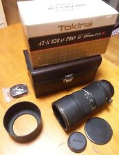 Ex Tokina AT-X PRO 828 80-200mm f2.8 AF Lens for Nikon w/Box,Hood,Cap From Japan