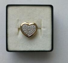 Herz Anhänger  Gelbgold 585 (14 Karat) Gold mit Steinen.