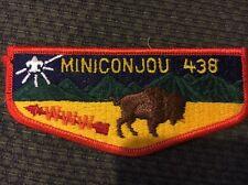 Mint OA Flap Lodge 438 Miniconjou Orange Border