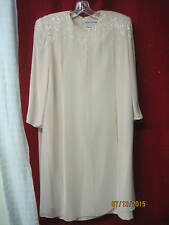 1970's/80's Couture Dress The Gray Rose C. Mercedes Ferreira pale peach sz 14