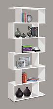 White Gloss Ziggy Open Bookcase Room Divider Shelf Shelving Display