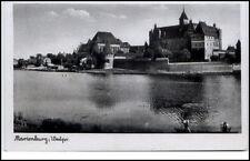MARIENBURG Westpreußen ~1940 Teilansicht Fluss Partie Polen alte AK ungelaufen