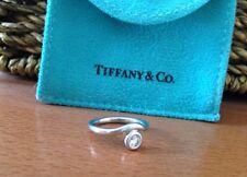 Tiffany &Co Elsa Peretti Platinum Solitaire Diamond Ring Sz 4 3/4 With Box