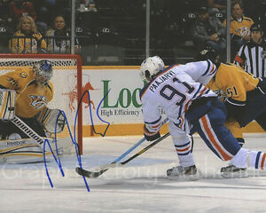 Magnus Paajarvi Edmonton Oilers Signed Autographed 8x10 Photo COA GFA