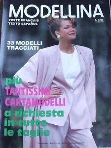 Modellina 91 1994 - rivista di moda con carta modelli