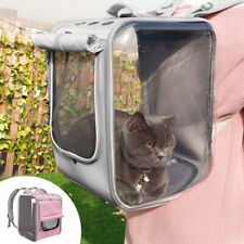 Transparent Breathable Cat Dog Carry Bag Pet Shoulder Travel Backpack Portable