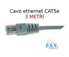 Cavo di rete ethernet RJ45 UTP LAN CAT5e patch cord 3mt per smart TV SKY modem