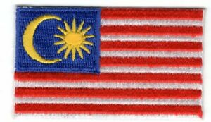 """MALAYSIA FLAG Iron On Patch  2 1/2"""""""