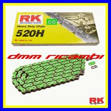 Catena rinforzata RK 520 Verde Cross Enduro Motard KAWASAKI KX KXF 125 250 450
