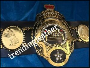 LOU THESZ HEAVYWEIGHT CHAMPIONSHIP BELT 2MM Brass ADULT SIZE