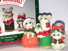 Hallmark Keepsake 1996 The Sewing Club Mice Christmas Figurines Merry Miniatures