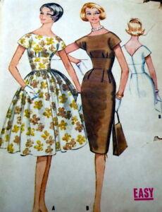 LOVELY VTG 1950s DRESS McCALLS Sewing Pattern 14/34 FF