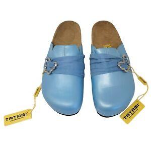Tatami Libra Birkenstock Slide Clog Sandal Women 39 Blue Suede Butterfly 8.5-9